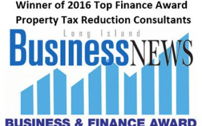 WINNER 2016 TOP FINANCE AWARD – PROPERTY TAX REDUCTION CONSULTANTS